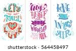 let's fall in love. my heart is ... | Shutterstock .eps vector #564458497