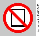 no computer tablet icon....   Shutterstock .eps vector #564458653