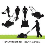 lawn care service silhouette