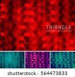 triangular abstract background. ... | Shutterstock .eps vector #564473833