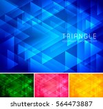 triangular abstract background. ... | Shutterstock .eps vector #564473887