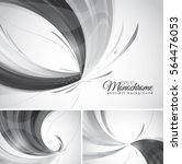 monochrome abstract background. ... | Shutterstock .eps vector #564476053