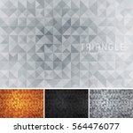 triangular abstract background. ... | Shutterstock .eps vector #564476077