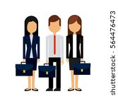 businesspeople wearing... | Shutterstock .eps vector #564476473