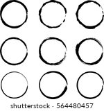 vector beautiful round handmade ... | Shutterstock .eps vector #564480457