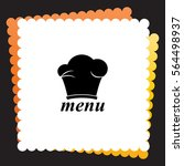 chef hat  icon. vector design. | Shutterstock .eps vector #564498937