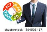 business man pdca | Shutterstock . vector #564505417