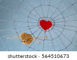 Red Heart In The Center Of The...