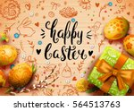 template vector card with... | Shutterstock .eps vector #564513763