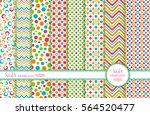 set of 8 seamless background.... | Shutterstock .eps vector #564520477
