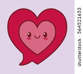 heart cartoon valentines day... | Shutterstock .eps vector #564521653