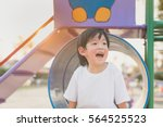 asian child playing on... | Shutterstock . vector #564525523