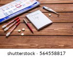 concept time health check up on ... | Shutterstock . vector #564558817