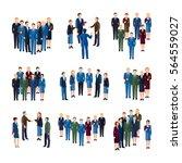 businessmen and women... | Shutterstock .eps vector #564559027