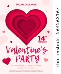 the poster for a party in honor ... | Shutterstock .eps vector #564563167