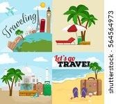 travel concept illustration ... | Shutterstock . vector #564564973
