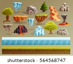 game cartoon elements set with... | Shutterstock .eps vector #564568747