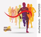 running people set of... | Shutterstock .eps vector #564569203