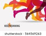 running people set of... | Shutterstock .eps vector #564569263