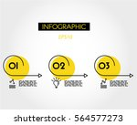 yellow linear infographic of... | Shutterstock .eps vector #564577273