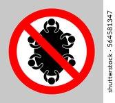 no meeting sign illustration....   Shutterstock .eps vector #564581347