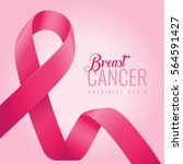breast cancer awareness ribbon... | Shutterstock .eps vector #564591427