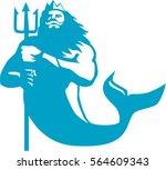illustration of triton... | Shutterstock .eps vector #564609343