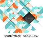 vector abstract geometric... | Shutterstock .eps vector #564618457