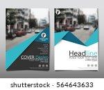 blue flyer cover business... | Shutterstock .eps vector #564643633