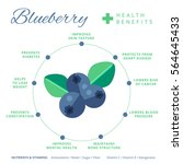 blueberry health benefits and... | Shutterstock .eps vector #564645433