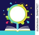 open book and growing tree with ... | Shutterstock .eps vector #564647827
