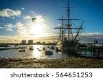 portsmouth historic dockyard  ... | Shutterstock . vector #564651253