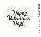 happy valentine's day... | Shutterstock .eps vector #564653947