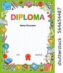 kids diploma certificate... | Shutterstock .eps vector #564654487