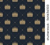 seamless pattern in retro style ... | Shutterstock .eps vector #564656503