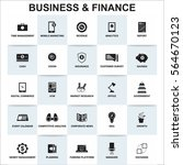 business and finance icon... | Shutterstock .eps vector #564670123