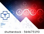 2d illustration health care and ... | Shutterstock . vector #564675193