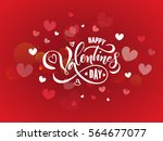 hand sketched valentines day... | Shutterstock .eps vector #564677077