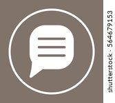 comment line   icon  isolated....   Shutterstock .eps vector #564679153