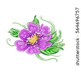 colorful spring flowers. vector ... | Shutterstock .eps vector #564696757
