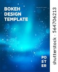 poster template with bokeh... | Shutterstock .eps vector #564706213