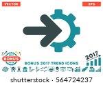 soft blue gear integration icon ... | Shutterstock .eps vector #564724237