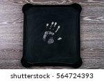 handprint on chalkboard   Shutterstock . vector #564724393