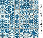 seamless tile pattern. colorful ... | Shutterstock . vector #564724663