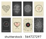 collection of romantic and love ... | Shutterstock .eps vector #564727297