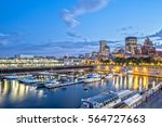 old port of montreal at night | Shutterstock . vector #564727663