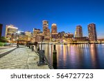 Boston Skyline From Downtown...