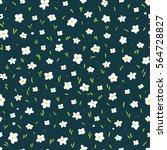 vector floral simple flower... | Shutterstock .eps vector #564728827