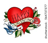 vector valentines day greeting... | Shutterstock .eps vector #564737377