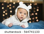 Curious Adorable Baby Boy With...